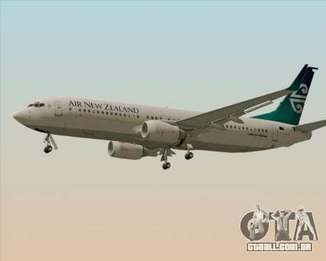 Boeing 737-800 Air New Zealand para GTA San Andreas traseira esquerda vista