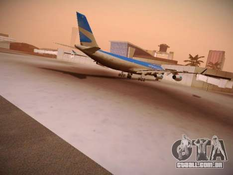 Airbus A340-300 Aerolineas Argentinas para GTA San Andreas vista interior