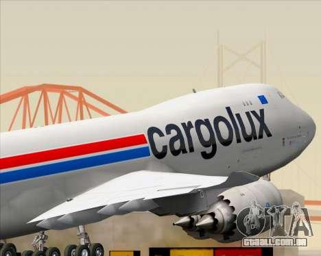 Boeing 747-8 Cargo Cargolux para GTA San Andreas vista inferior