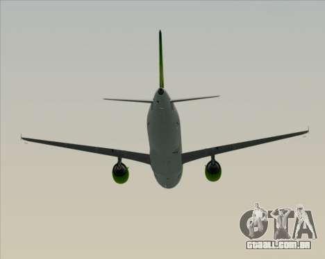 Airbus A320-200 Air Australia para GTA San Andreas vista superior