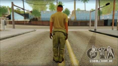 GTA 5 Soldier v2 para GTA San Andreas segunda tela