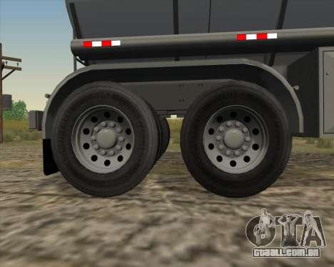 Tanque de reboque Carro Copec para vista lateral GTA San Andreas