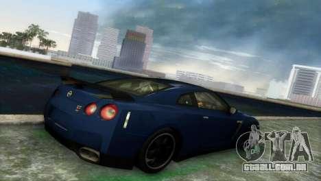 Nissan GT-R SpecV Black Revel para GTA Vice City vista traseira