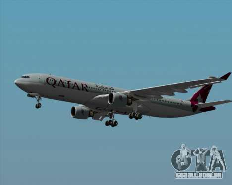 Airbus A330-300 Qatar Airways para GTA San Andreas vista superior