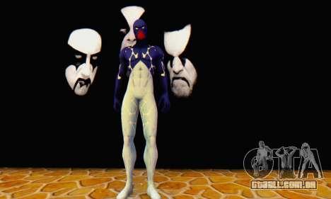 Skin The Amazing Spider Man 2 - Suit Cosmic para GTA San Andreas terceira tela