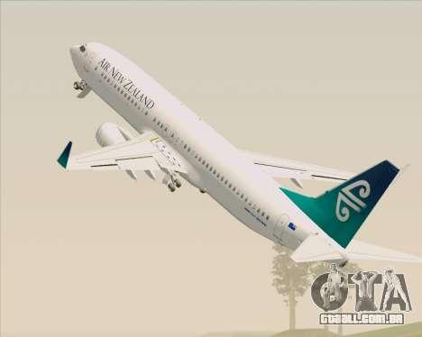 Boeing 737-800 Air New Zealand para as rodas de GTA San Andreas