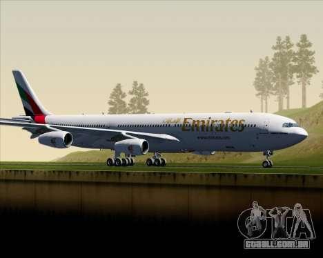 Airbus A340-313 Emirates para GTA San Andreas esquerda vista