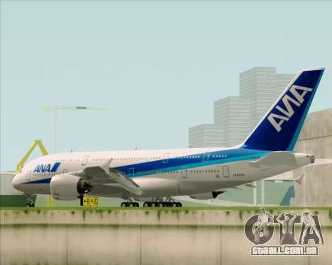 Airbus A380-800 All Nippon Airways (ANA) para vista lateral GTA San Andreas