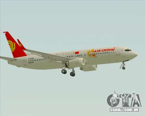 Boeing 737-89L Air China para GTA San Andreas vista traseira