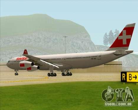 Airbus A340-313 Swiss International Airlines para GTA San Andreas vista direita