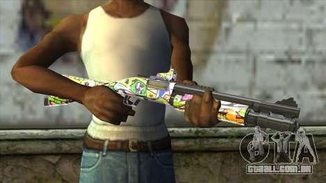 Graffiti Shotgun para GTA San Andreas terceira tela
