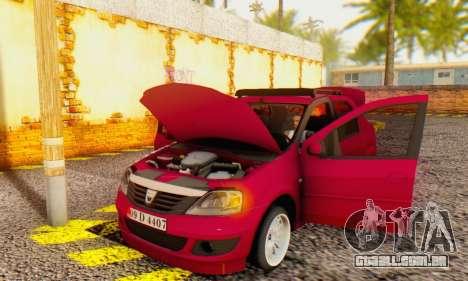 Dacia Logan 1.6 MPI Tuning para GTA San Andreas vista interior