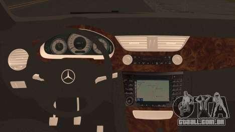 Mercedes-Benz CLS 350 para GTA San Andreas traseira esquerda vista