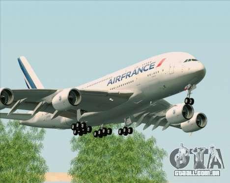 Airbus A380-861 Air France para GTA San Andreas esquerda vista