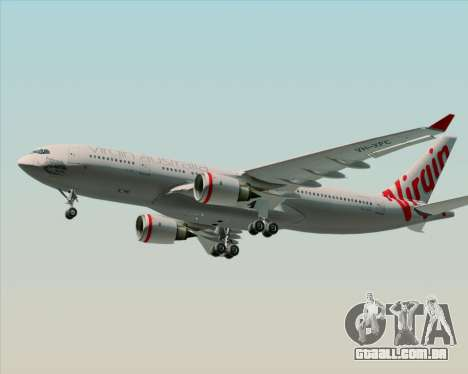 Airbus A330-200 Virgin Australia para GTA San Andreas vista direita