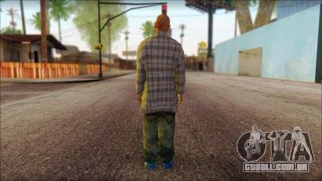 Los Aztecas Gang Skin v1 para GTA San Andreas segunda tela