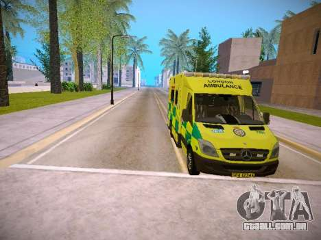 Mercedes-Benz Sprinter London Ambulance para GTA San Andreas vista superior