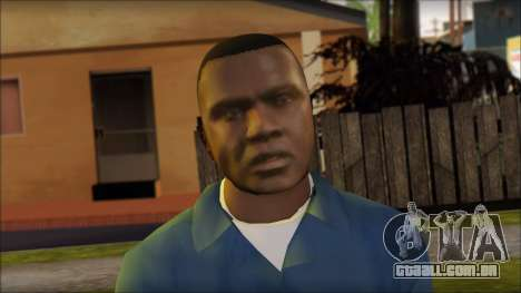Franklin from GTA 5 para GTA San Andreas terceira tela