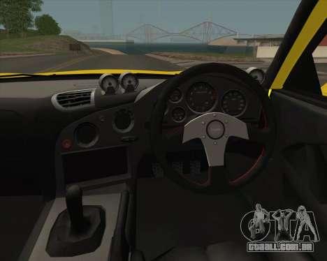 Mazda RX-7 FD3S A-Spec para GTA San Andreas vista interior