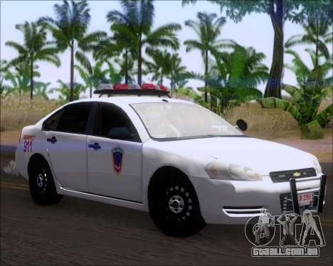 Chevrolet Impala 2006 Tallmage Batalion Chief 2 para GTA San Andreas esquerda vista