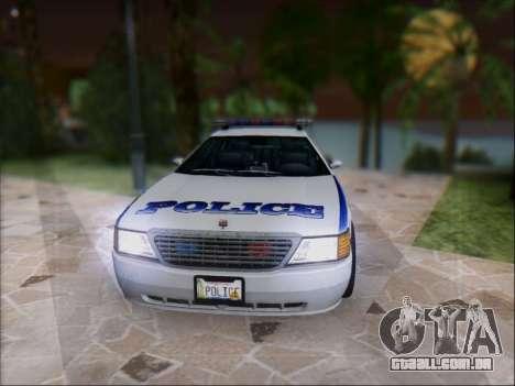 Admiral Police para GTA San Andreas esquerda vista