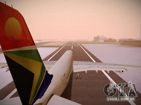 Airbus A340-300 South African Airways para as rodas de GTA San Andreas