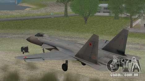 Sukhoi SU-47 Berkut from H.A.W.X. 2 Stealth Skin para GTA San Andreas esquerda vista
