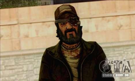 Kenny from The Walking Dead v3 para GTA San Andreas terceira tela
