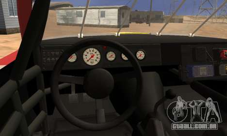 Buick Regal 1983 para GTA San Andreas vista interior
