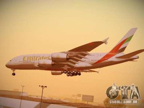 Airbus A380-800 Emirates para GTA San Andreas vista superior