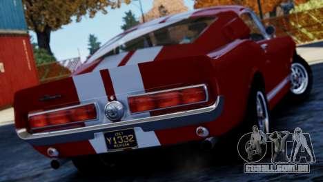 Shelby Cobra GT500 1967 para GTA 4 esquerda vista