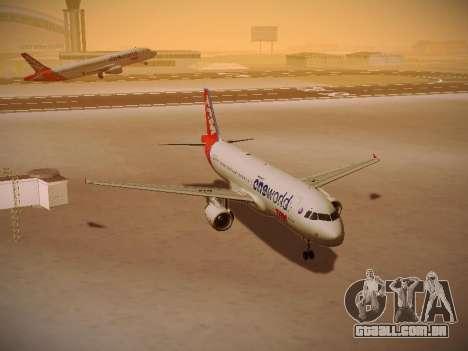 Airbus A320-214 TAM Oneworld para GTA San Andreas vista traseira