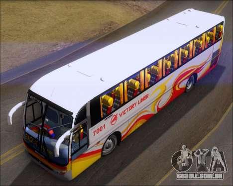 Marcopolo Victory Liner 7001 para GTA San Andreas vista traseira