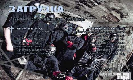 Metal Menu - Slipknot para GTA San Andreas terceira tela