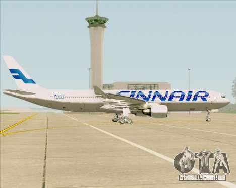 Airbus A330-300 Finnair (Current Livery) para GTA San Andreas vista interior