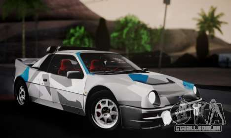 Ford RS200 Evolution 1985 para o motor de GTA San Andreas
