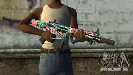 Graffiti Assault rifle v2 para GTA San Andreas terceira tela