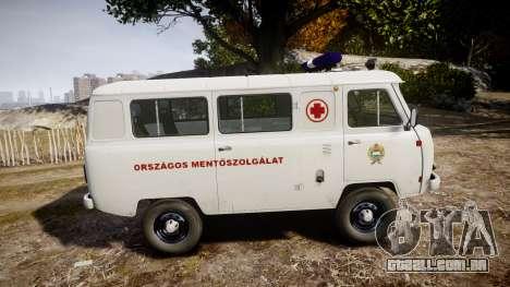 UAZ-39629 ambulância Hungria para GTA 4 esquerda vista