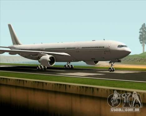 Airbus A330-300 Full White Livery para GTA San Andreas esquerda vista