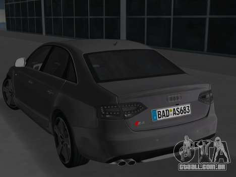 Audi S4 (B8) 2010 - Metallischen para GTA Vice City vista direita