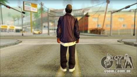 Eazy-E Blue Skin v1 para GTA San Andreas segunda tela