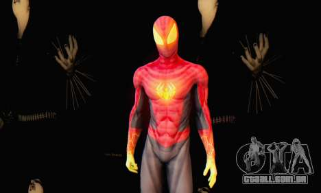 Skin The Amazing Spider Man 2 - Suit Fenix para GTA San Andreas por diante tela