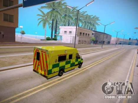 Mercedes-Benz Sprinter London Ambulance para GTA San Andreas vista interior