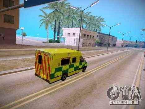 Mercedes-Benz Sprinter London Ambulance para GTA San Andreas vista interior