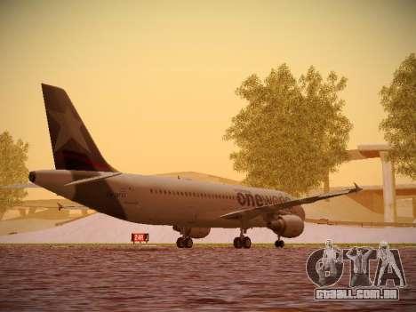 Airbus A320-214 LAN Oneworld para GTA San Andreas vista direita