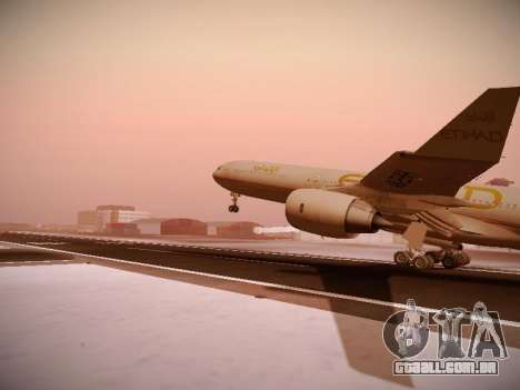Airbus A340-600 Etihad Airways para vista lateral GTA San Andreas