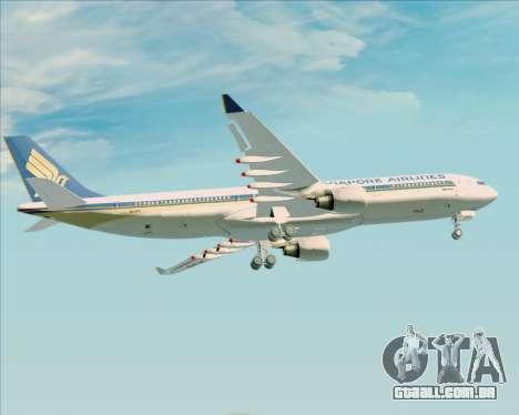 Airbus A330-300 Singapore Airlines para o motor de GTA San Andreas