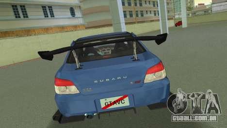 Subaru Impreza WRX STI 2006 Type 2 para GTA Vice City vista direita