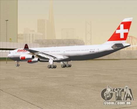 Airbus A340-313 Swiss International Airlines para vista lateral GTA San Andreas
