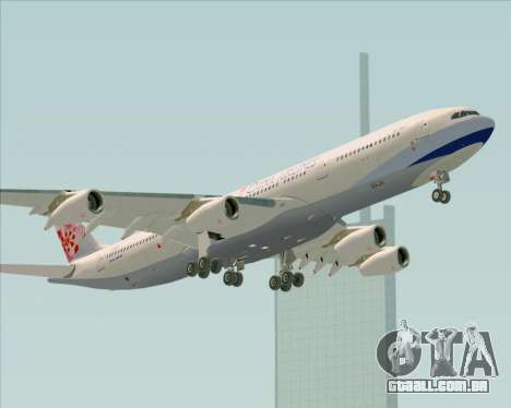 Airbus A340-313 China Airlines para GTA San Andreas vista superior